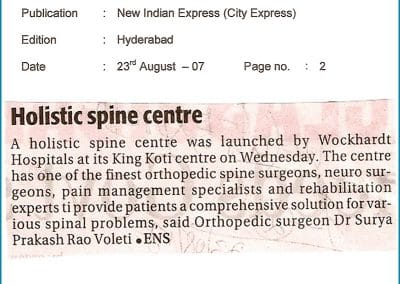 Treatment for Spinal Deformilies Explained by Dr Surya Prakash Rao Voleti, Best Orthopaedic Surgeon in Hyderabad