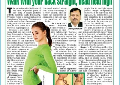 Treatment for Kyphosis in Hyderabad, a popular spinal deformilies explained by Dr Surya Prakash Voleti, Best orthopaedic spine surgeon in India