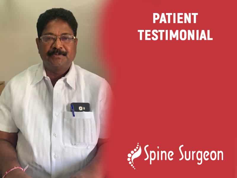 Mr. Kishore Babu Get a successful Cervical Surgery By Dr. Surya Prakash Voleti