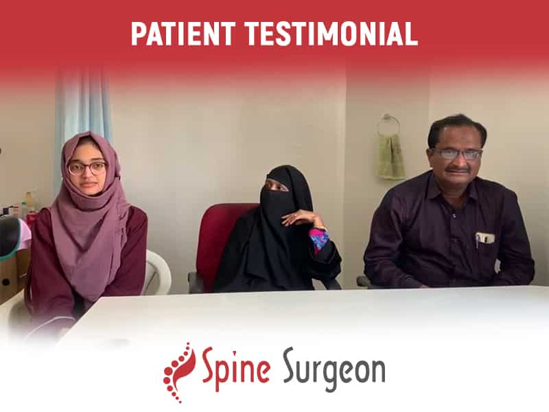 Miss. Susanna Get a successful Spine Surgery By Dr. Surya Prakash Voleti