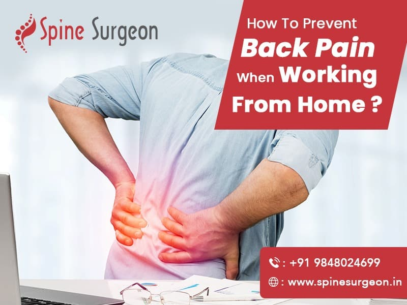 How to prevent back pain when working from home?